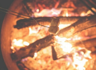 Example website for a campsite - Campfire image